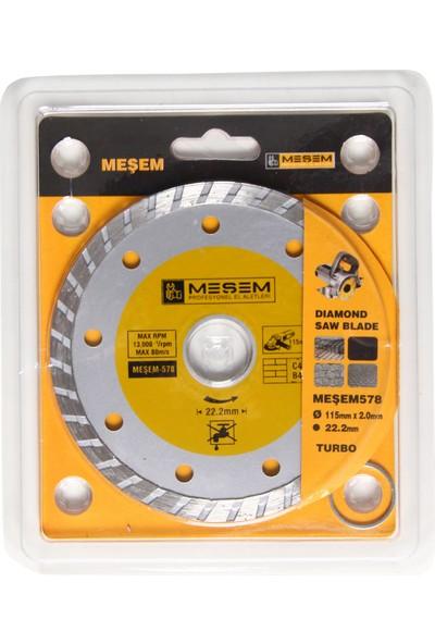 Meşem Kesici Disk 115'lik Mermer Ahşap Granit Demir Fayans Kesme Disk Seti
