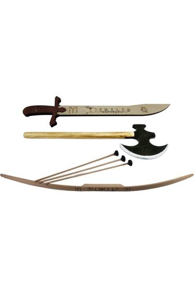 Ahtek Ahşap Kılıç + Ok Yay + Balta Seti Oyuncak