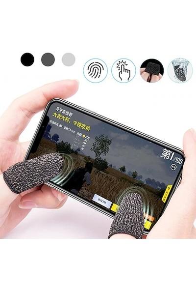 MACARONS Mobile Oyun Çift Parmak Ter Tutmaz Eldiven Siyah