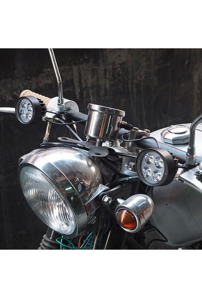 Knmaster Badger 12W Ayna Bağlantılı Motosiklet Sis Farı Takımı