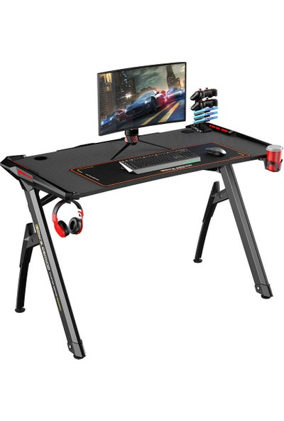 Adore Gaming Master Rgb Oyuncu Masası AGT-124-QQ-1 Karbon Çelik Gövde Siyah