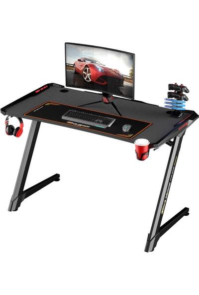 Adore Gaming ıntro Rgb Oyuncu Masası AGT-120-QQ-1 Karbon Çelik Gövde Siyah