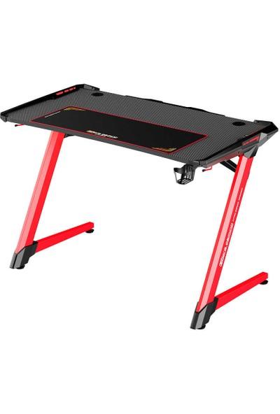 Adore Gaming Intro Rgb Oyuncu Masas AGT-120-QK-1 Karbon Çelik Gövde Siyah-Kırmızı