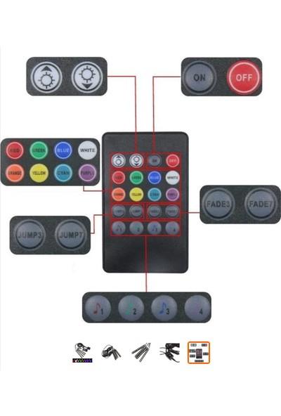 SunLed Müziğe Duyarlı Kumandalı Araç İçi LED Aydınlatma Seti