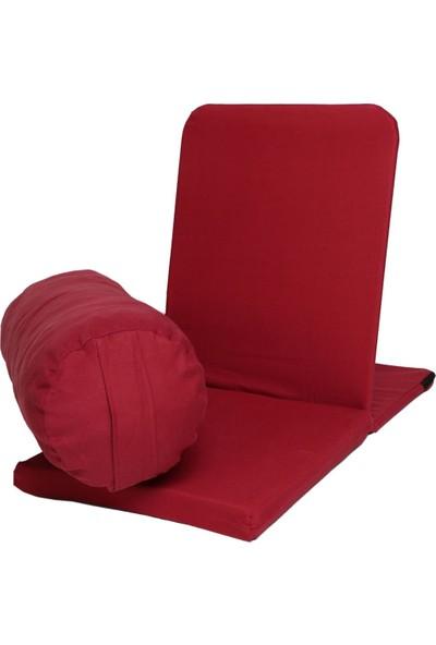 Zunkla Meditasyon Sandalyesi + Yoga Bolster Minderi 2'li Set Duck Kumaş
