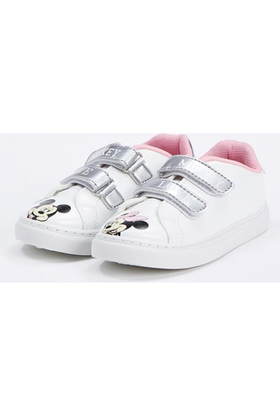 Defacto Kız Çocuk Mickey - Minnie Mouse Lisanslı Ayakkabı