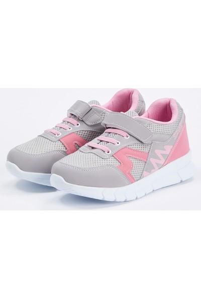 Defacto Kız Çocuk Bağcıklı Ve Cırtcırtlı Spor Ayakkabı