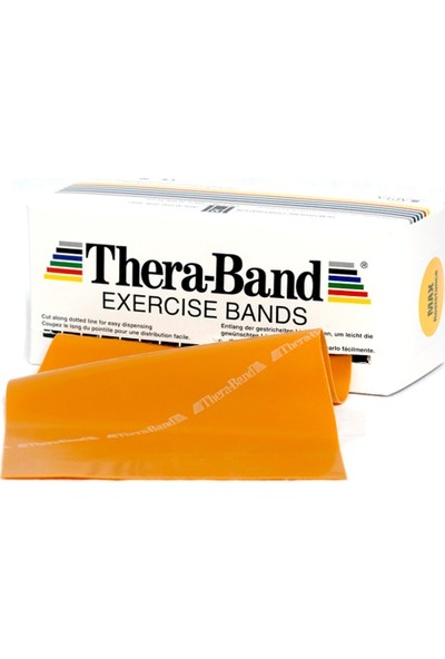 TheraBand Egzersiz / Pilates Bandı 5.5 Metre Altın Sarı