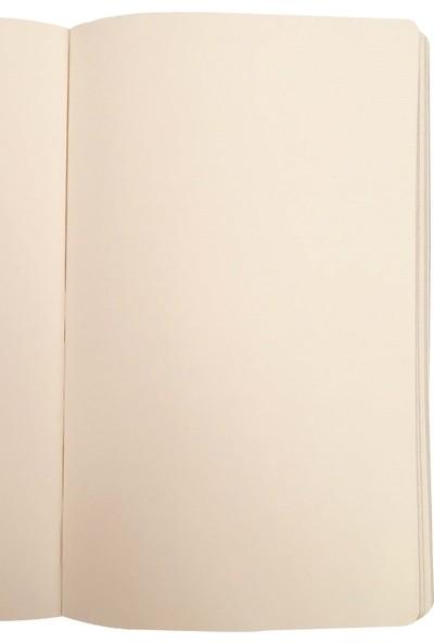 Ece Ajandası Gümüşlük Çizgisiz Defter 13 x 18 cm Koyu Gri