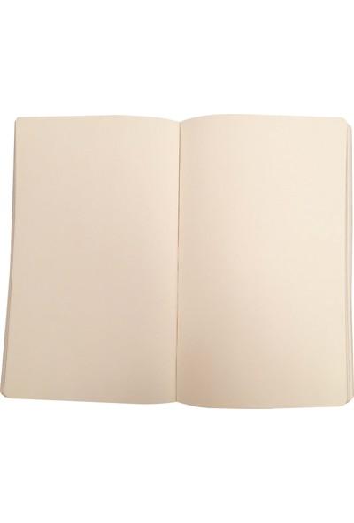 Ece Ajandası Gümüşlük Çizgisiz Defter 13 x 21 cm Kahverengi