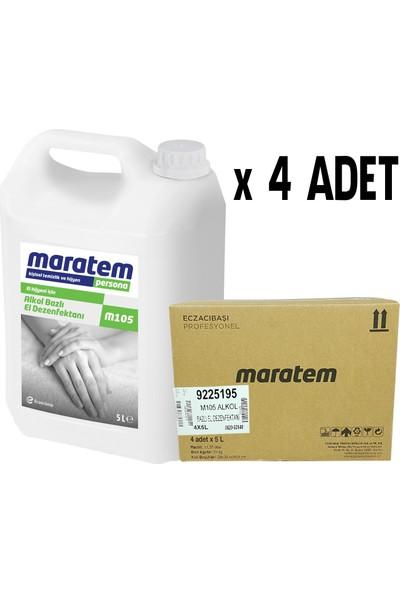 Maratem M105 Alkol Bazlı El Dezenfektanı 5 lt x 4 Adet