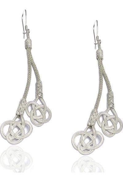 Midyat Nurtaş Gümüş 1000 Ayar Kazaziye Kadın Gümüş Küpe
