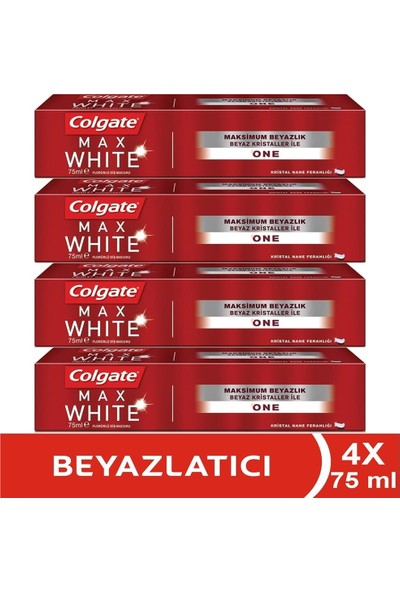 Colgate Max White One Beyazlatıcı Diş Macunu 4 x 75 ml
