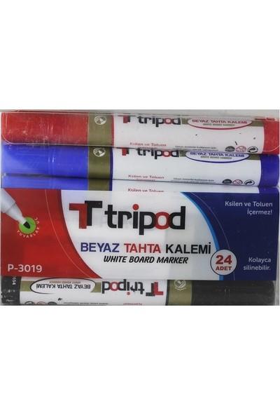 Tripod P3019 Tahta Kalemi Karma 24'lü
