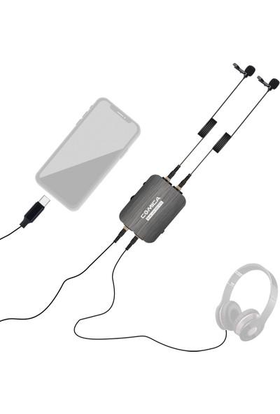 Comica CVM-D03 Stc Çok Yönlü Çift Kafa Yaka Mikrofonu (Yurt Dışından)