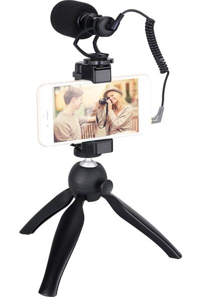 Comica CVM-VM10-K2 Smartphone Video Rig Kiti ile Kardioid (Yurt Dışından)