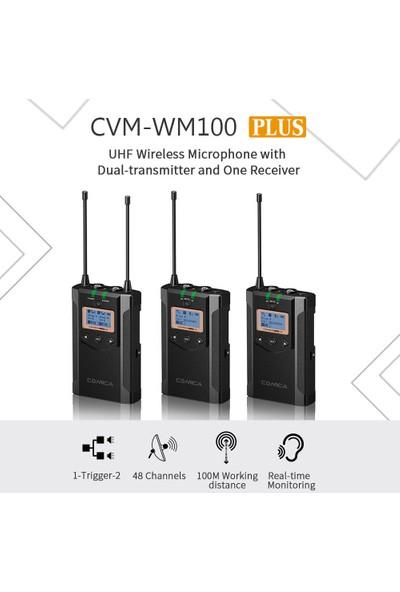Comica CVM-WM100 Artı Uhf 48-Channel Kablosuz Çift (Yurt Dışından)