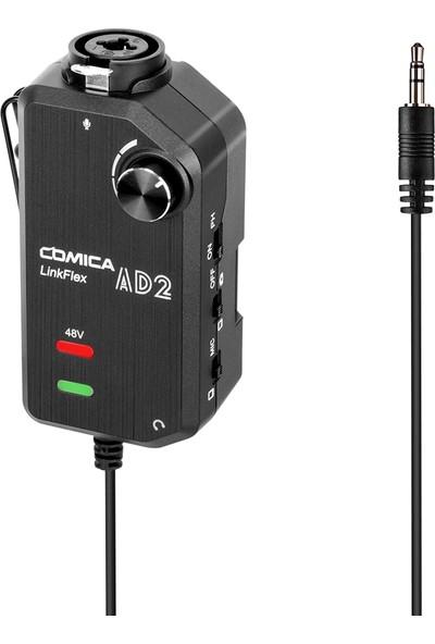 Comica Linkflex Ad2 Xlr /6.35 mm-3.5 mm Mikrofon Preamp (Yurt Dışından)