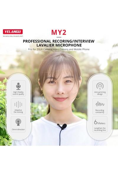Yelangu My2 Profesyonel Yaka Mikrofonu Taşınabilir (Yurt Dışından)