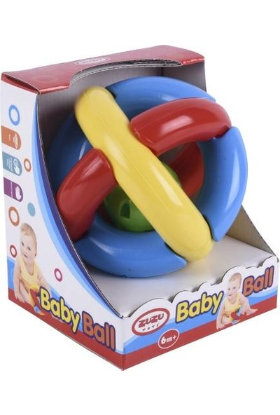Zuzu Toys Baby Ball Çıngıraklı Bebek Topu 3+ Ay
