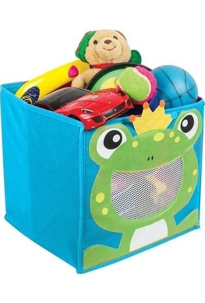 Meleni Home Kurbağalı Oyuncak Saklama Kutusu, Oyuncak Düzenleyici Organizer Mavi 2 Adet