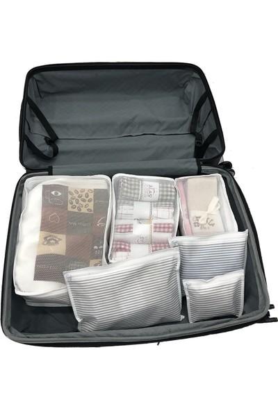 Meleni Home Çok Amaçlı 6 Parça Bavul Düzenleyici Organizer Set