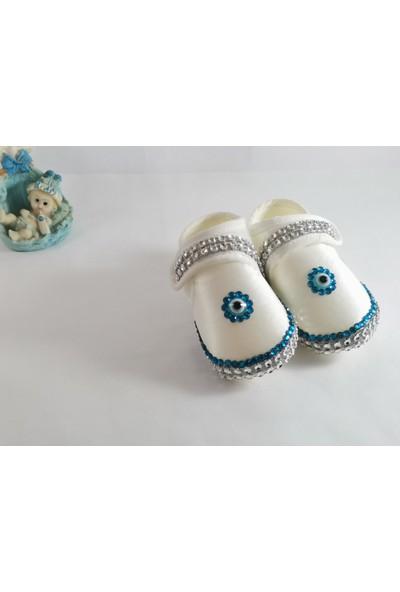 Ce'ee Baby Mavi Taş Tüğ Süslemeli 3'lü Lohusa Seti