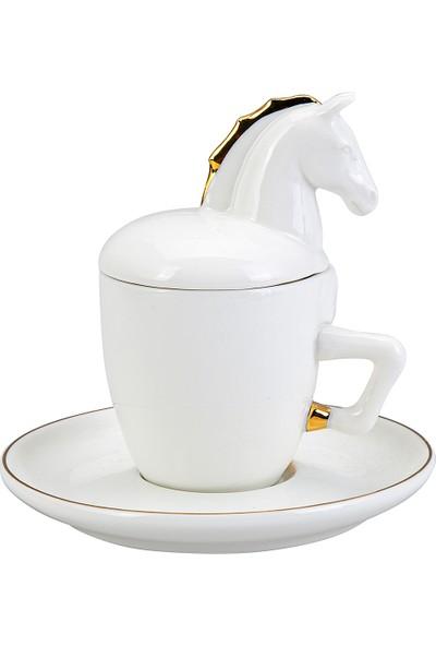 Karaca Horse 2 Kişilik Kahve Fincan Takımı