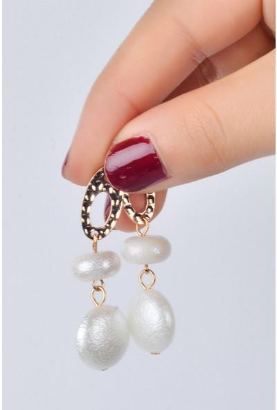 Luxurb Zara İnci Taşlı Kadın Küpe