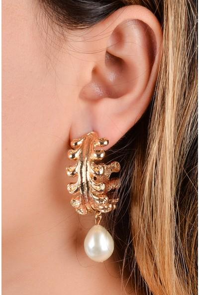 Luxurb Zara İnci Taç İşlemeli İnci Kadın Küpe