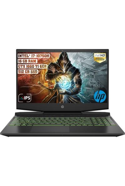 """HP Pavilion 15-DK1014NT Intel Core i7 10750H 16GB 512GB SSD GTX1660Ti Freedos 15.6"""" Taşınabilir Bilgisayar 1U5T4EA"""