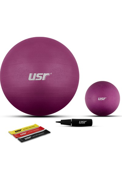 USR 652M 25+65 Cm Pilates Topu + Pompası + 3 Micro Bant