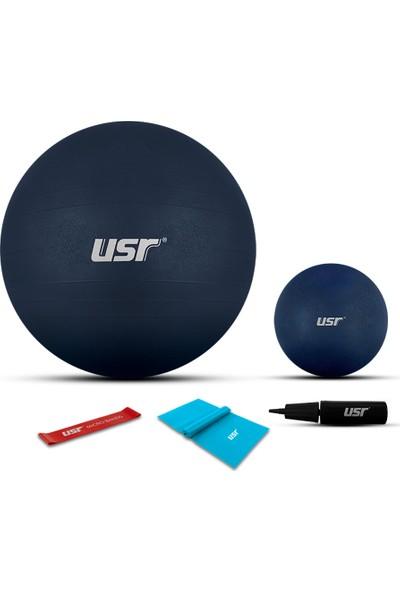 USR 551BM 20+55 Cm Pilates Topu + Pompa + 2 Lastik