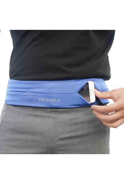 Freebelt Saks Mavi Yeni Nesil Spor Bel Çantası Koşu ve Fitness Kemeri