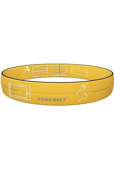 Freebelt Sarı Yeni Nesil Spor Bel Çantası Koşu ve Fitness Kemeri