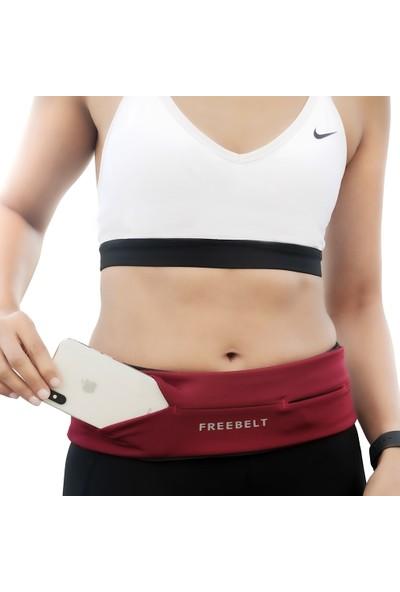 Freebelt Bordo Yeni Nesil Spor Bel Çantası Koşu ve Fitness Kemeri