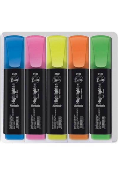 Bion Fosforlu Kalem 5 Renk Set