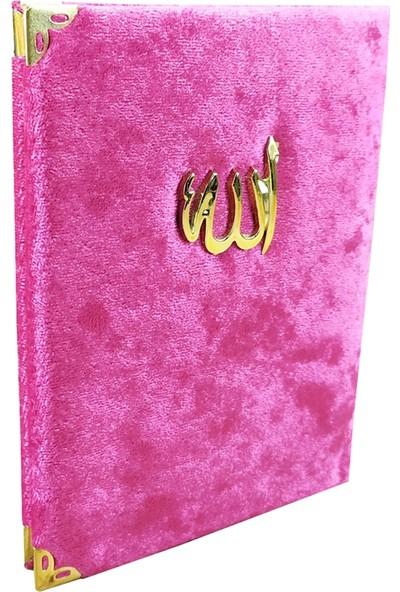 Kadife Kaplı Pembe Renkli Yasin Kitabı