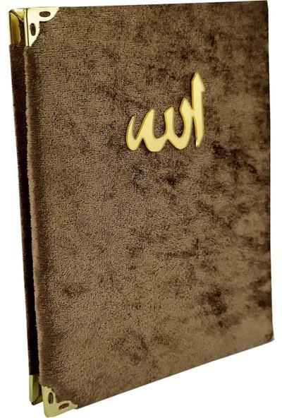 Kadife Kaplı Kahverengi Yasin Kitabı