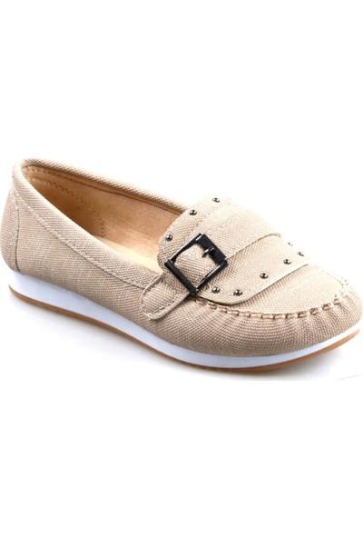 Annamaria 450 Bej Günlük Kadın Babet Ayakkabı