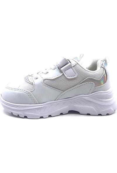 Cool 20-S06 Beyaz Erkek Çocuk Fileli Günlük Spor Ayakkabı