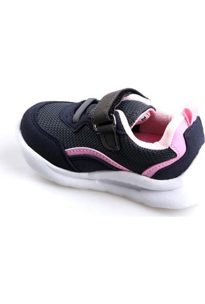 Cool 20-S29 Gri Kız Çocuk Bebe Fileli Günlük Spor Ayakkabı