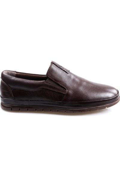 Goes 483 Kahve Günlük Erkek Deri Ayakkabı
