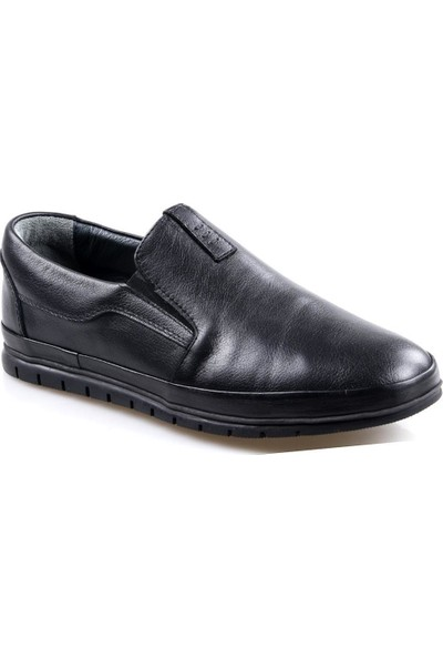 Goes 483 Siyah Günlük Erkek Deri Ayakkabı