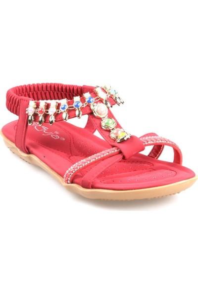 Guja 20Y201-8 Kırmızı Kız Çocuk Günlük Sandalet