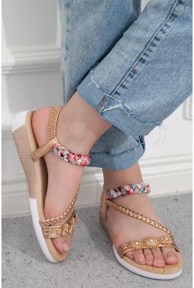 Guja 20Y232-8 Altın Kadın Günlük Sandalet