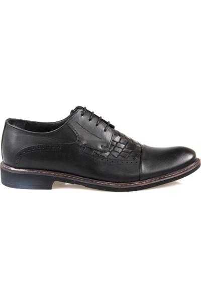 Rego 1266 Erkek Siyah Klasik Ayakkabı