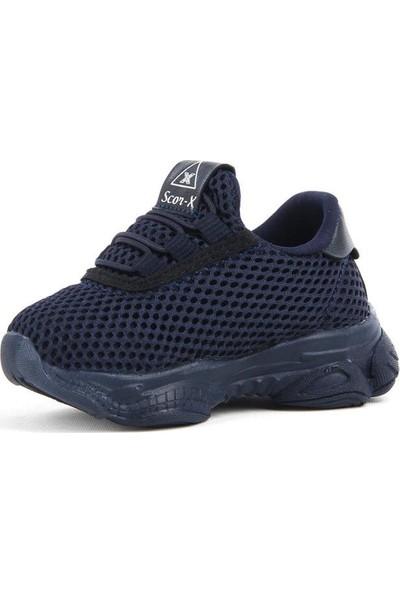 Scor-X Bağcıksız Erkek Çocuk Bebe Lacivert Spor Ayakkabı