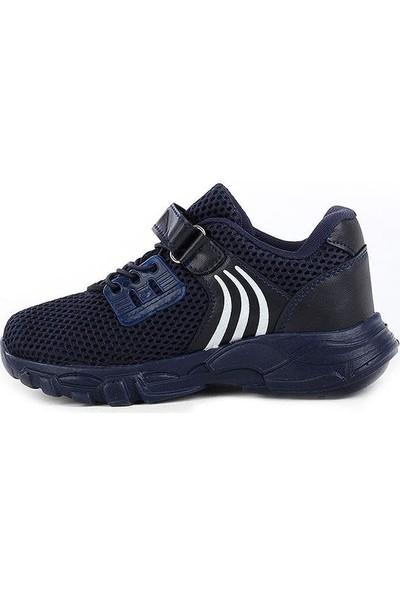 Scor-X Bağcıksız Erkek Çocuk Lacivert Günlük Fileli Spor Ayakkabı