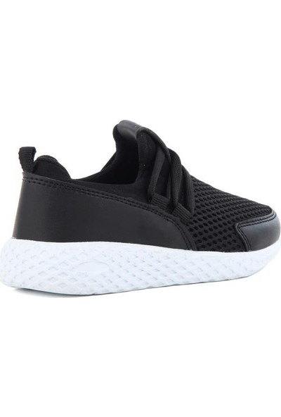 Scor-X Bağcıksız Erkek Çocuk Siyah Spor Ayakkabı